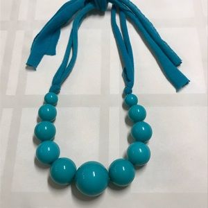 Teal bauble necklace
